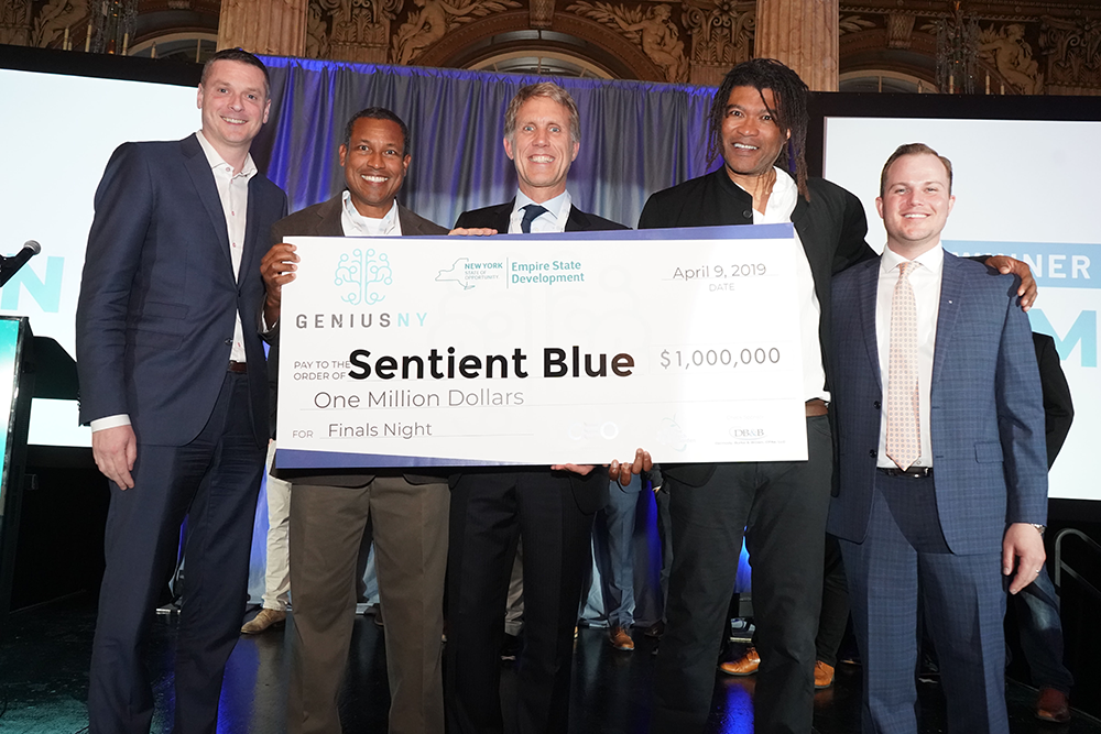 Sentient Blue Wins GENIUS NY $1 Million Investment Award